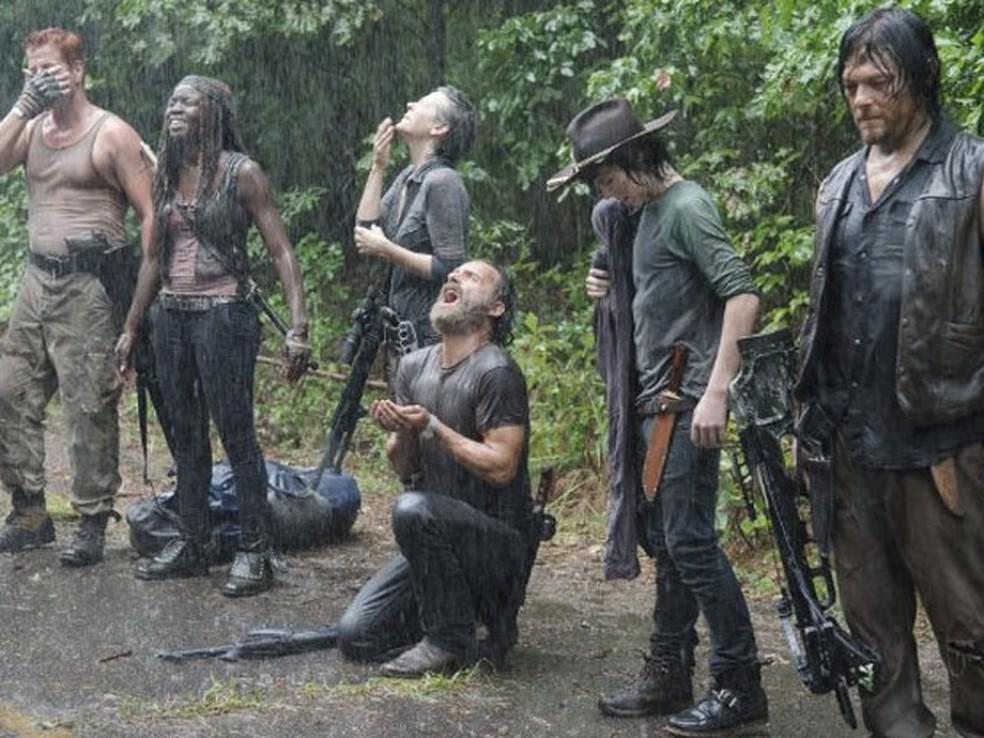 Cena da quinta temporada da série 'The walking dead'  (Foto: Divulgação )