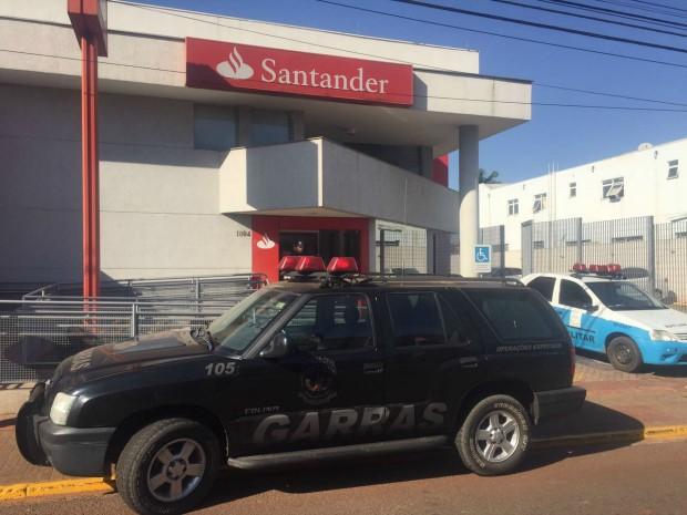 Cofre de agência foi arrombado no fim de semana (Foto: Gabriela Pavão/ G1 MS)