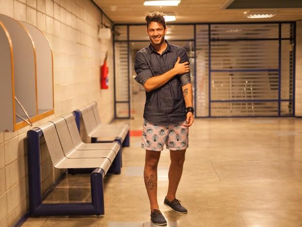 Luiz Felipe, do BBB 17, após ser eliminado (Foto: Anderson Barros/ EGO)