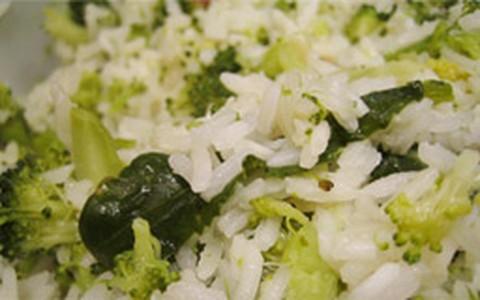 Arroz de brócolis tradicional