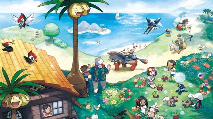 A região de Alola em Pokémon Sun & Moon guarda muitas surpresas para novos e velhos fãs da série (Foto: Reprodução/Always Nintendo) (Foto: A região de Alola em Pokémon Sun & Moon guarda muitas surpresas para novos e velhos fãs da série (Foto: Reprodução/Always Nintendo))