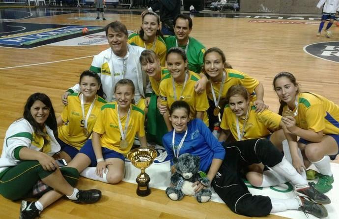Colégio Rogacionista futsal feminino sub-14 Sul-americano (Foto: Divulgação)