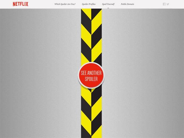Netflix lança site dedicado a 'spoilers' (Foto: Reprodução/spoilers.netflix.com)
