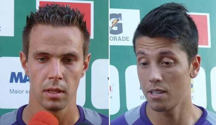 Bruno Ré e Thiago Carpini reforços Guarani (Foto: Paulo Vitor / Guarani FC)