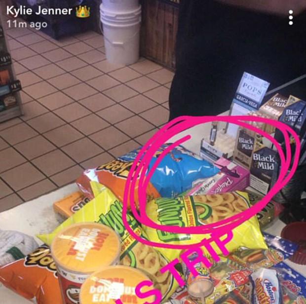 Compras de Kylie Jenner (Foto: Reprodução/SnapChat)