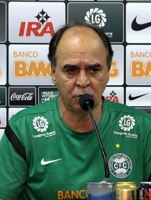 Marcelo Oliveira em entrevista coletiva (Foto: Divulgação/Site oficial do Coritiba)
