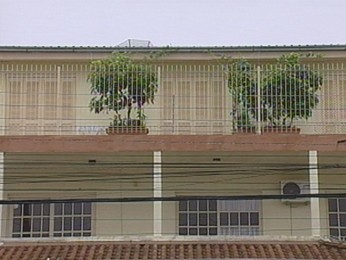Local de queda de criança em Bento Gonçalves, RS (Foto: Reprodução/RBS TV)