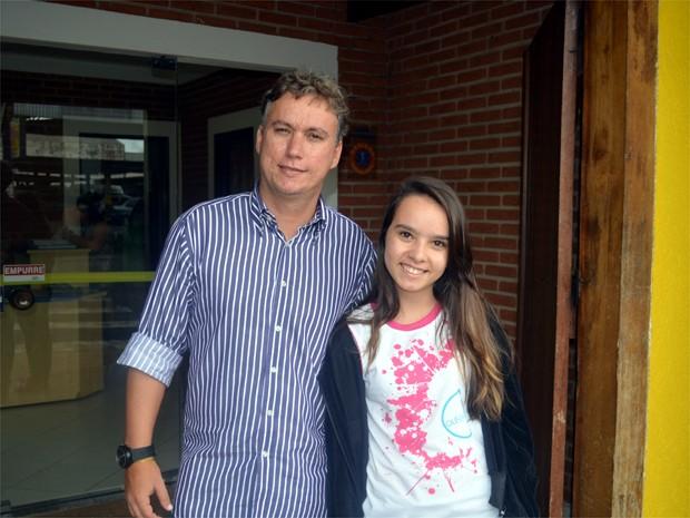 Pai matriculou a filha em escola particular de Ribeirão Preto neste ano (Foto: Eduardo Guidini/ G1)