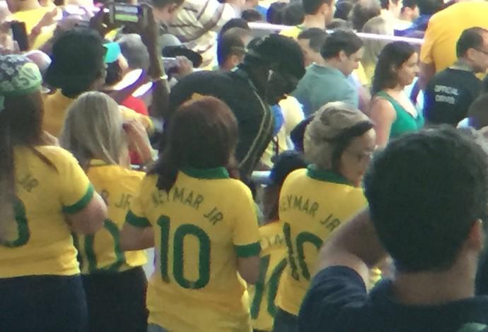 Usain Bolt Maracanã Brasil seleção brasileira futebol Alemanha final (Foto: Raphael Zarko)