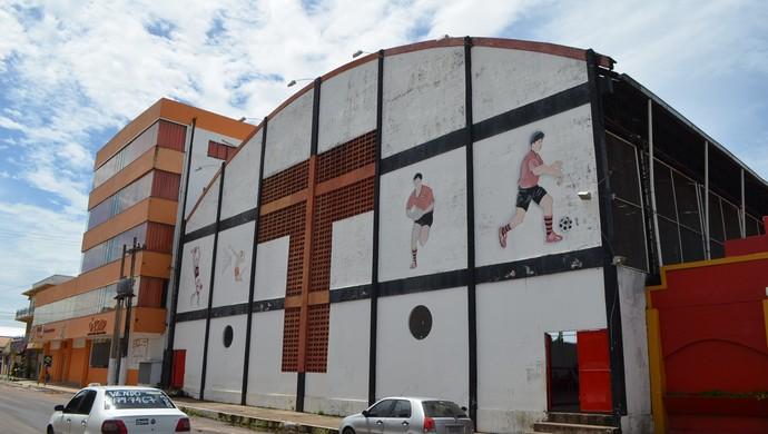 Sede social e administrativa do Trem Desportivo Clube, no Amapá (Foto: Abinoan Santiago/G1)