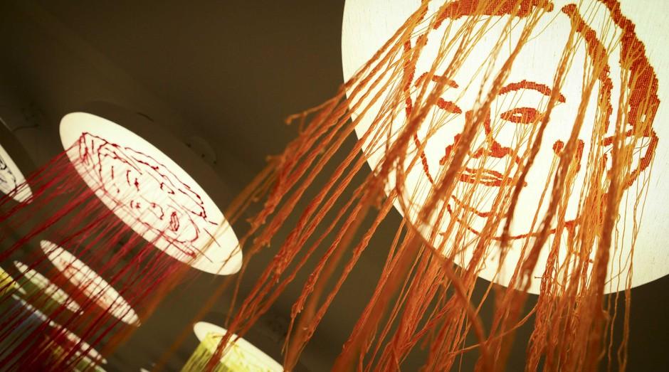 Luminária de um dos artesãos que participaram de programa do Sebrae (Foto: Thelma Vidales)