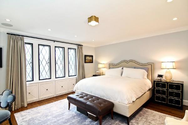 Um dos quartos da nova casa de Obama  (Foto: Reprodução)