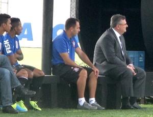 Mário Gobbi no treino do Corinthians (Foto: Rodrigo Faber)