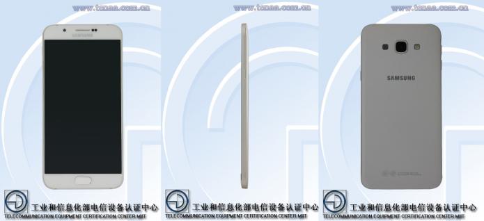 Galaxy A8 vaza nos sites dos órgãos que regulamentam a telefonia nos EUA e China (Foto: Reprodução/TENAA)