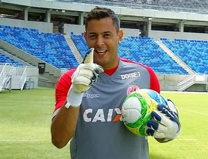 Fernando Henrique goleiro América-RN (Foto: Reprodução/Inter TV Cabugi)