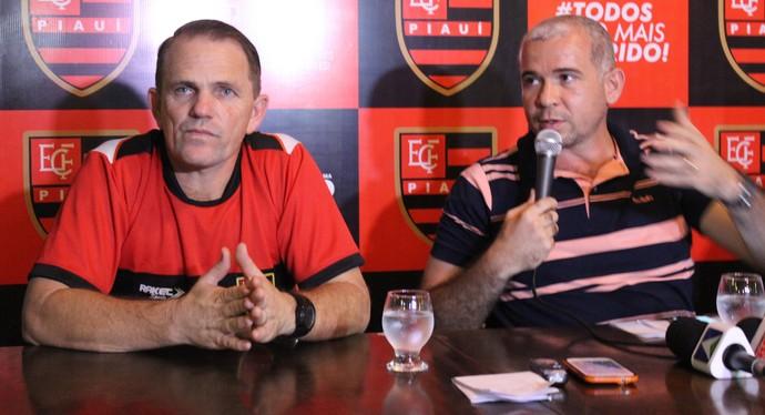 Paulo César Schardong e Tiago Vasconcelos - Flamengo-PI (Foto: Emanuele Madeira/GloboEsporte.com)