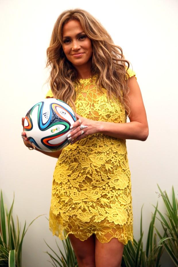 Jennifer Lopez na abertura da Copa do mundo (Foto: Agência Getty Images)