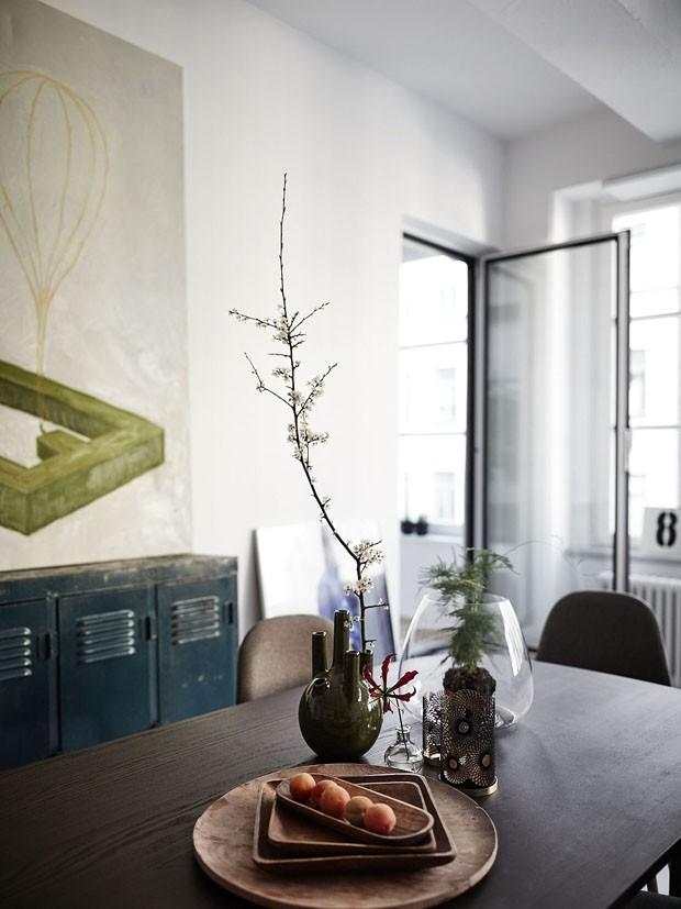 Décor do dia: sala de jantar em estilo industrial e escandinavo (Foto: reprodução)