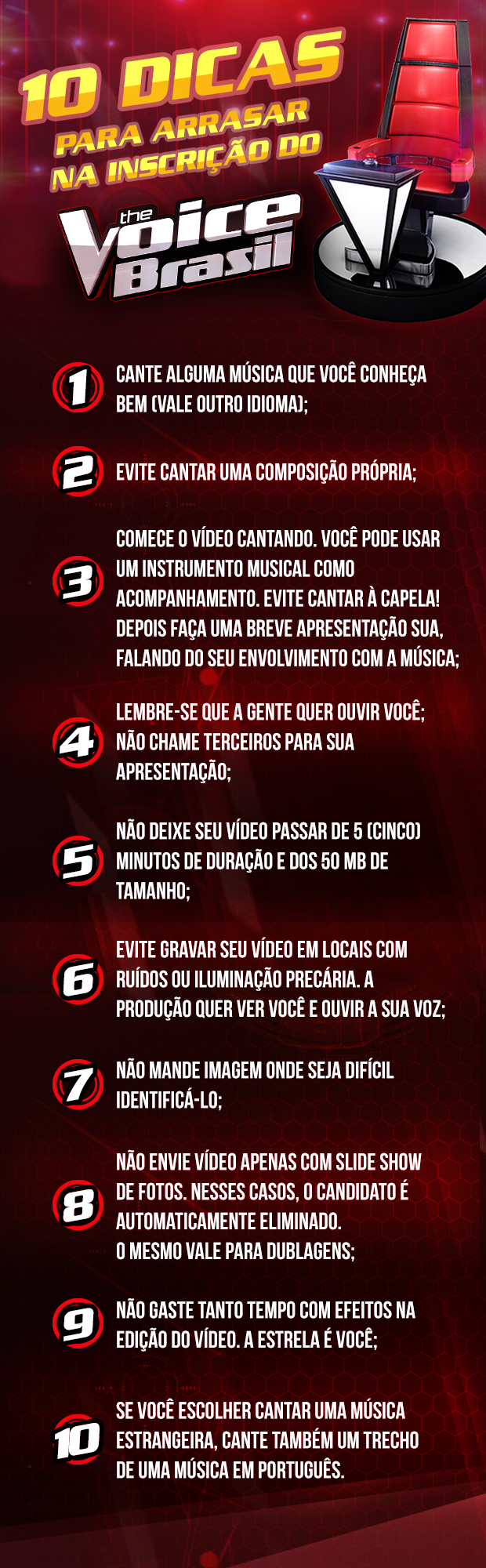 dicas (Foto: The Voice Brasil/TVGlobo)
