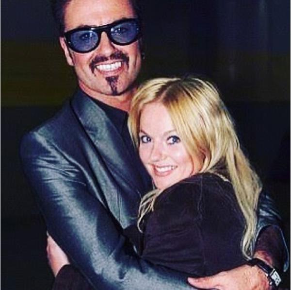 A ex-Spice Girl Geri Horner com o amigo George Michael (Foto: Instagram)
