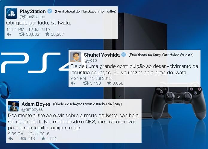 Executivos da Sony lamentam a morte de Satoru Iwata (Foto: Reprodução/Rafael Monteiro)