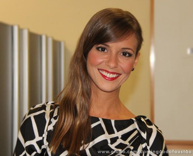 Fernanda de Freitas foi jurada do quadro Os Imitadores (Foto: Domingão do Faustão/TV Globo)