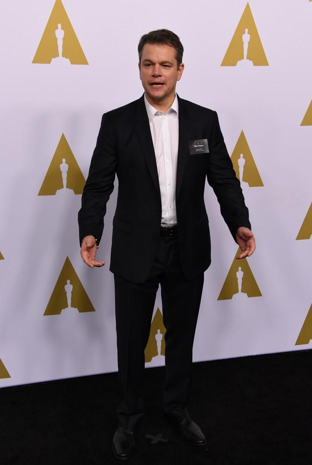 Matt Damon em evento em Los Angeles, nos Estados Unidos (Foto: Mark Ralston/ AFP)