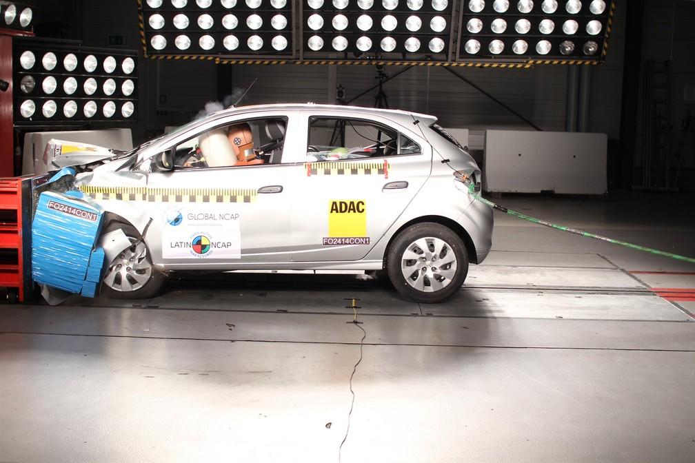 Chevrolet Onix recebeu nota zero em teste de colisão do Latin Ncap (Foto: Divulgação / Latin NCap)