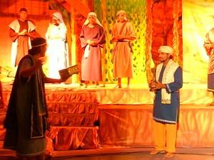 """Espetáculo 'Jesus, o filho do homem"""",  em Santarém (Foto: Reprodução/TV Tapajós)"""