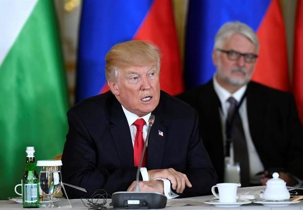 Donald Trump, em Varsóvia  (Foto: EFE)