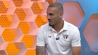 Maicon participa do Globo Esporte para comentar excelente atuação do São Paulo no Morumbi