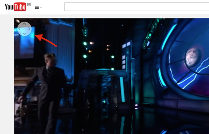 Utilizando a ferramenta de navegação de vídeos do YouTube em 360 graus (Foto: Reprodução/Marvin Costa)
