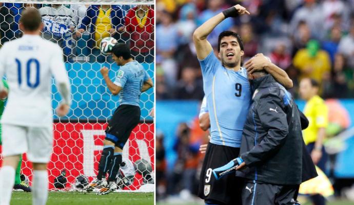suárez walter ferreira gol uruguai copa do mundo (Foto: Editoria de Arte/GloboEsporte.com)