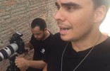 Mário mostra bastidores de gravação