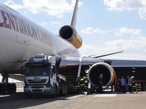 Avião Viracopos (Foto: Lana Torres/G1 Campinas)