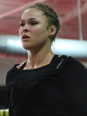 Ronda Rousey, treino MMA Combate (Foto: Evelyn Rodrigues)