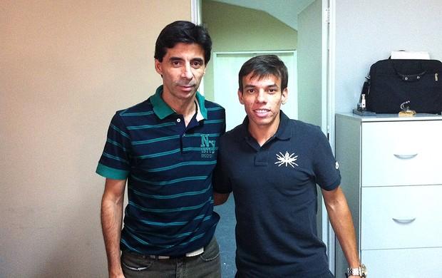 Mauro Galão com Marquinhos do Vasco (Foto: Divulgação)