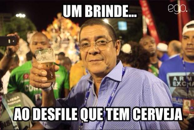 Zeca Pagodinho meme (Foto: Isac Luz/EGO)