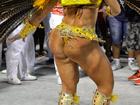 Natalya Muniz, musa da Viradouro, exibe bumbum estranho na Sapucaí
