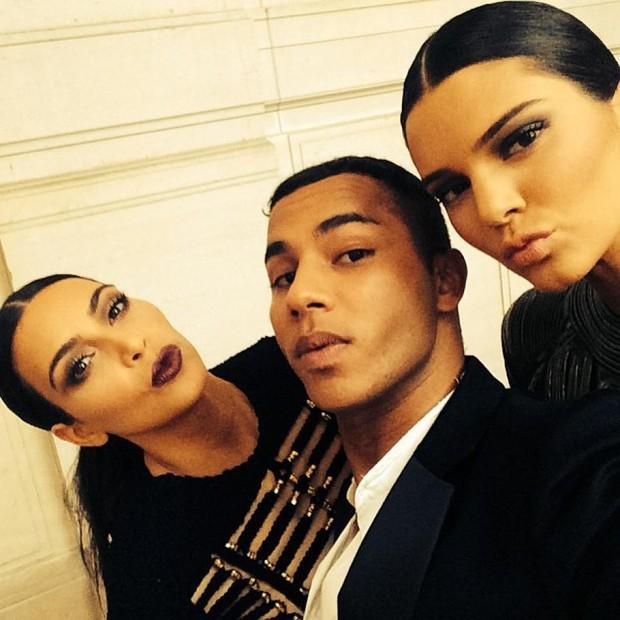 Kim Kardashian, Olivier e Kendall Jenner (Foto: Reprodução/ Instagram)