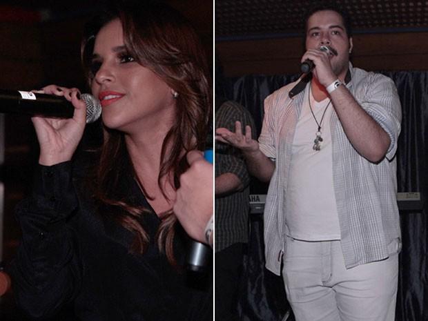 Mariana Rios também cantou durante o show de Tiago Abravanel (Foto: Salve Jorge/TV Globo)