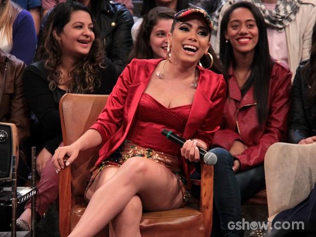 Anitta participa da gravação do programa Altas Horas (Foto: TV Globo/Altas Horas)