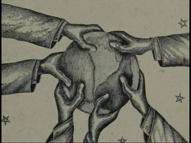 Desenho de Franklin Cascaes feito a bico-de-pena (Foto: FCFCC/Divulgação)