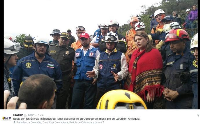 Diretor de Unidade colombiana encerra buscas no município de Cerrogordo (Foto: Reprodução)