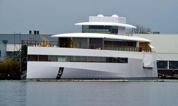 """Iate """"Vênus"""" encomendado por Steve Jobs, fundador da Apple, em estaleiro na Holanda (Foto: AFP)"""
