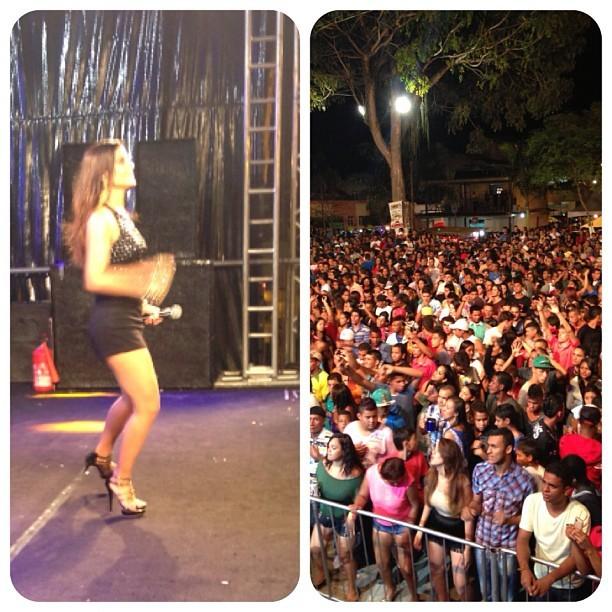 Mari Antunes durante show em Iguaí (BA) (Foto: Reprodução/Instagram)