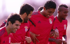 Julio Cesar treino Benfica (Foto: EFE)