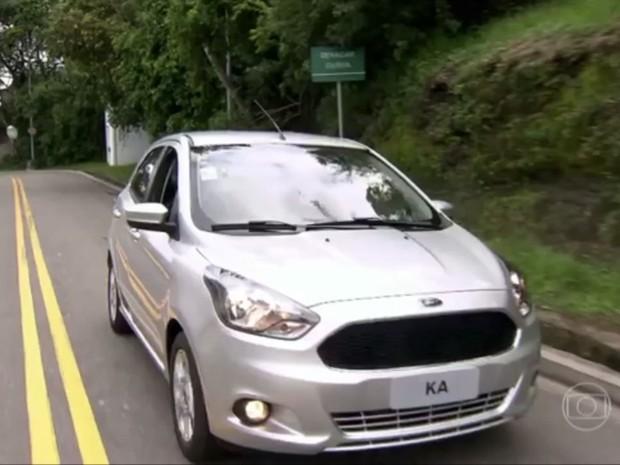 Ford Ka na televisão (Foto: Reprodução)