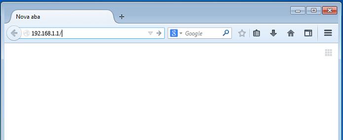 Digitando o endereço do roteador no navegador (Foto: Reprodução/Edivaldo Brito)