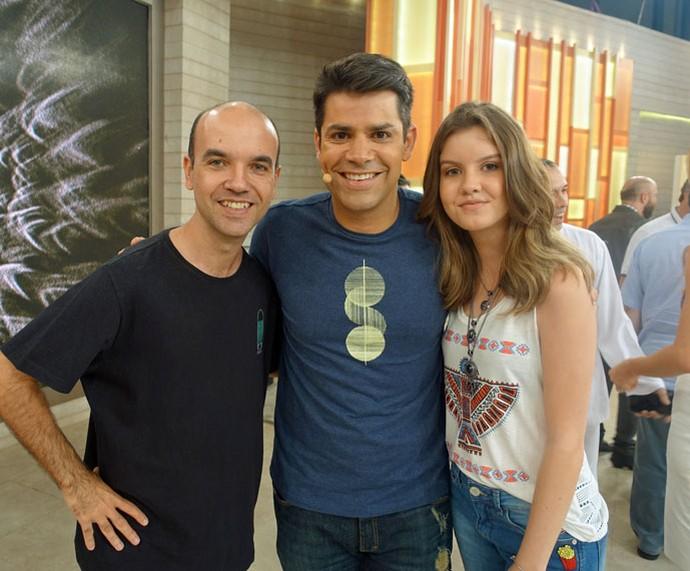 Convidados do programa com o Lair Rennó  (Foto: Juliana Hippert/Gshow)